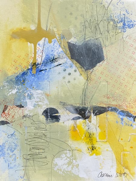 Imagine #3 is a mixed media painting on paper by Adrienne Watts.