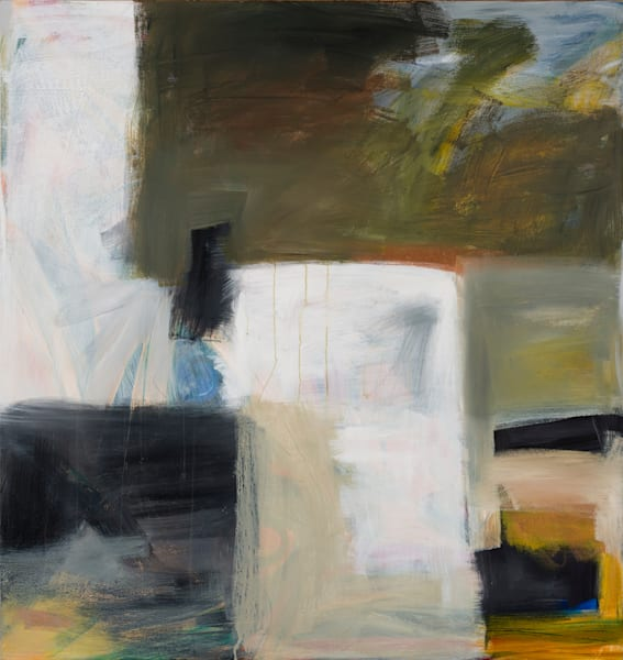 Large Abstract Painting In Browns Art | Debbie Dicker - Art