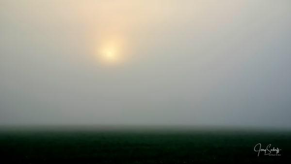 Foggy Sunrise Abstract