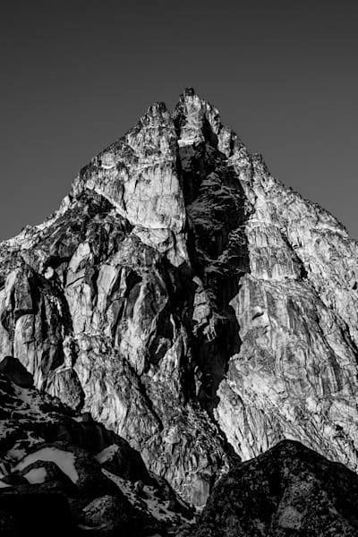 Dragontail Peak - Black and White - Sammy Spence