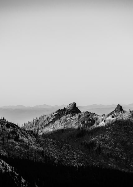 Hurricane Ridge 3 - Black and White - Sammy Spence