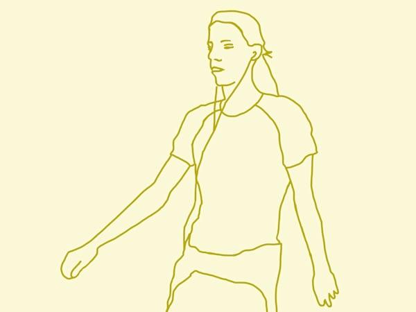 Yellow lady runner a LE print by Stuart Bush