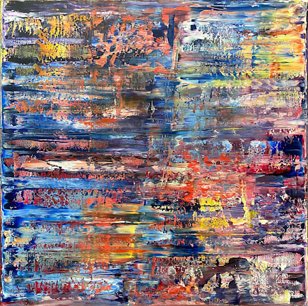 Memory Lapse abstract oil painting