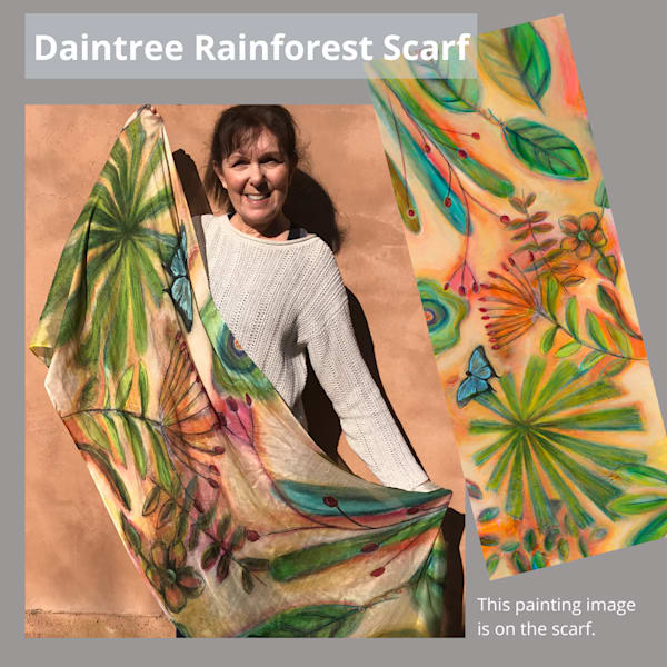 Daintree Rainforest Scarf | Debbie Dicker - Art