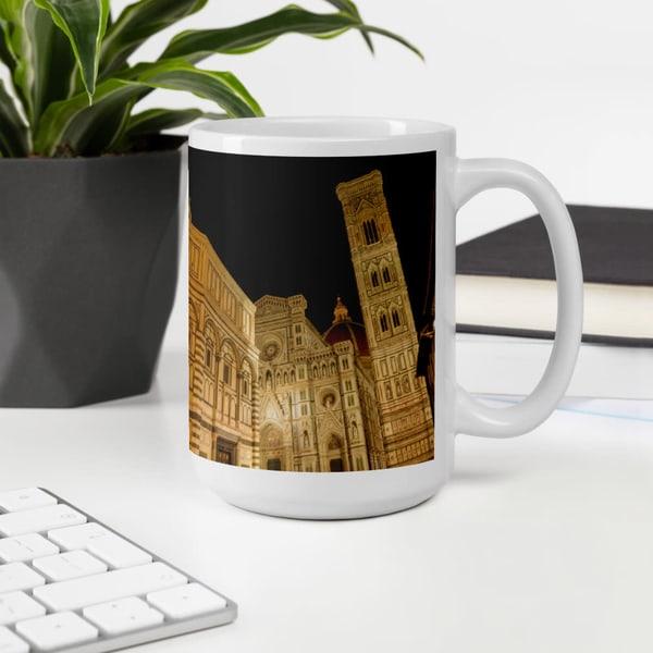 """Piazza Di San Giovanni At Night"" Coffee Mug | Ron Olcott Photography"