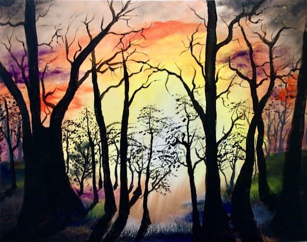 Forest Sunset Art | House of Fey Art
