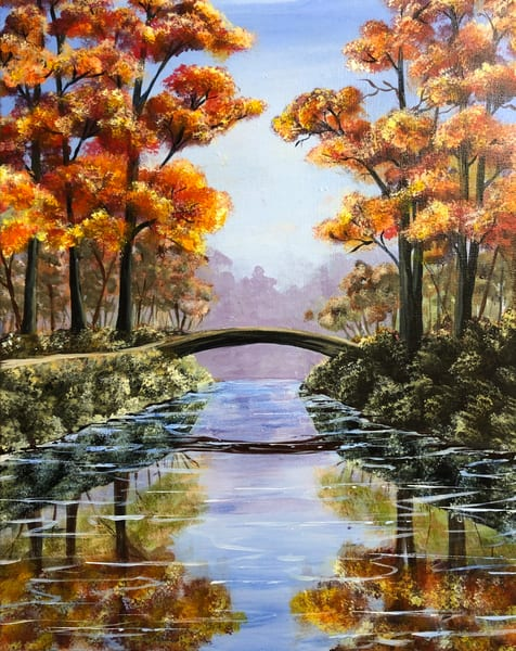 Autumn Bridge Art | House of Fey Art