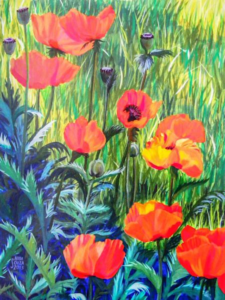 Lanesville Poppies Art | capeanngiclee
