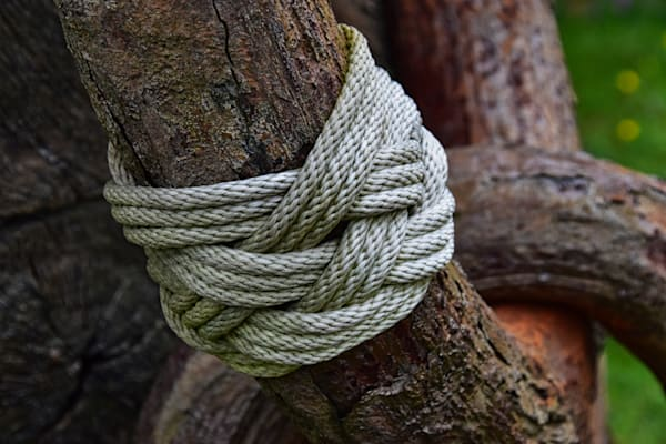 Turks Head Knot On Salvaged Anchor by Keith R Wahl, Made From RI Gallery