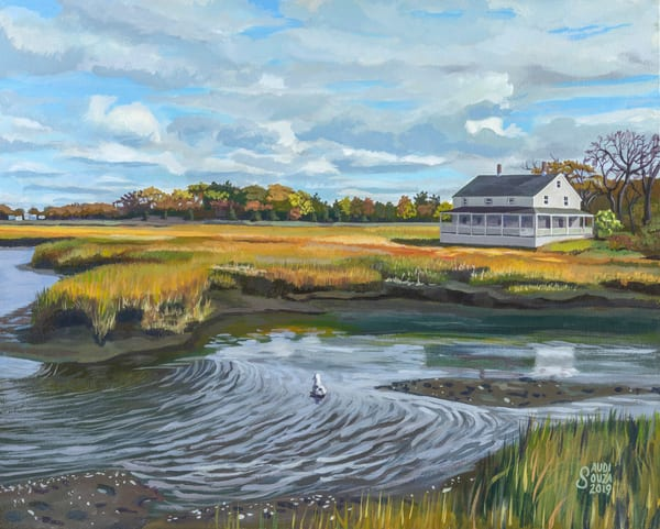 Burnham House Essex Marsh Art | capeanngiclee