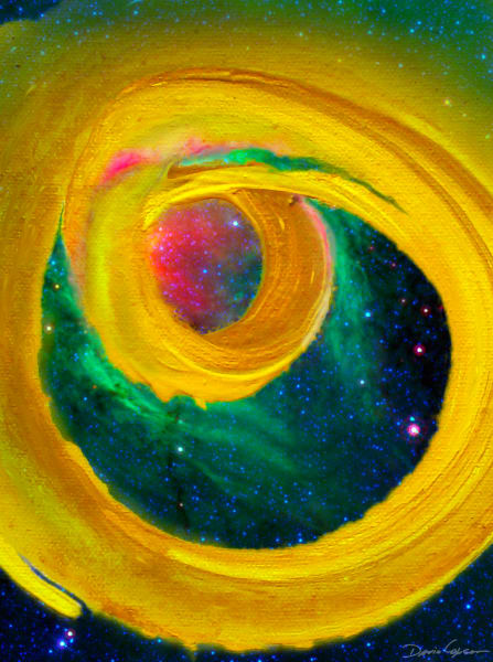 Yellow Gyre - Original Digital Print by visionary artist David Copson
