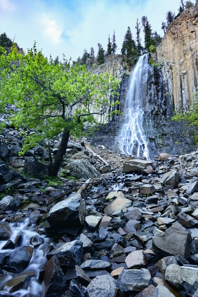 Palisade Waterfall - Hyalite Park - Montana Waterfalls - Fine Art Prints on Metal, Canvas, Paper & More By Kevin Odette Photography