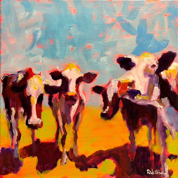 Four Cows | Fine Art Original Oil Painting by Rick Osborn