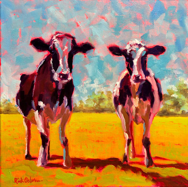 Two Cows | Fine Art Original Oil Painting by Rick Osborn