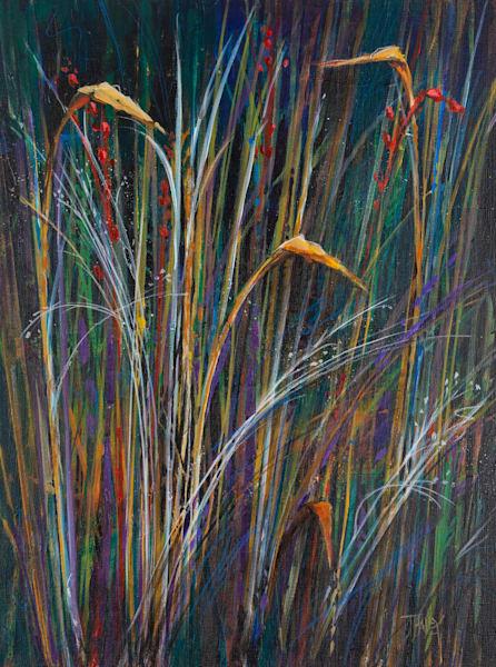Night Grass Art | Terrie Haley Artist