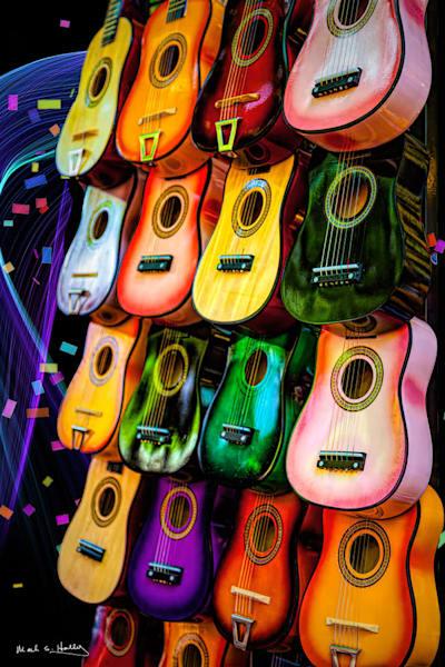 art, fine art, contemporary, guitar, music, fiesta, san antonio, texas, colorful, bold