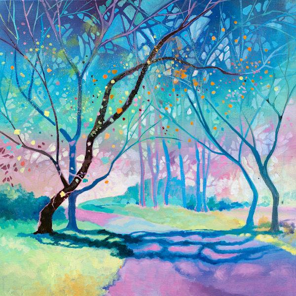 Trees Autumn Colourful Art Print