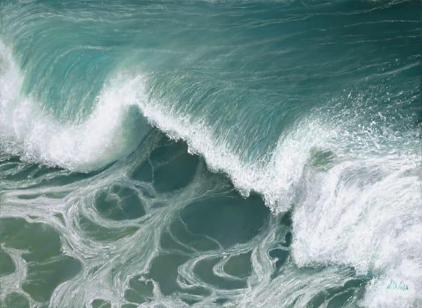 S.Gehring - Oregon Coast Wave Art - Over A Barrel