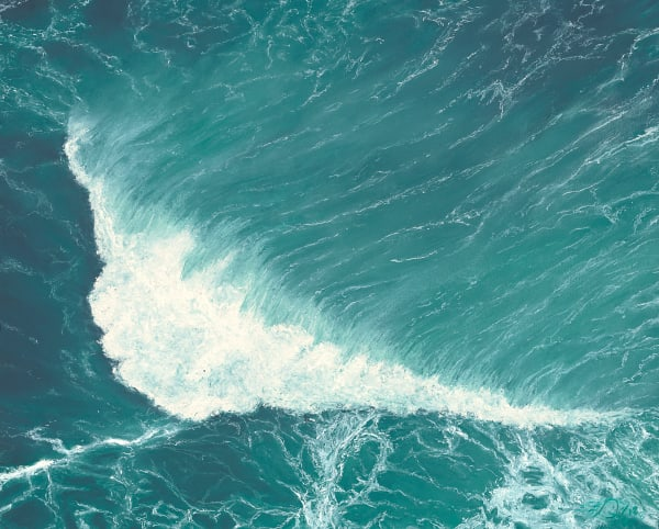 S.Gehring - Oregon Coast Wave Art - Deep Green