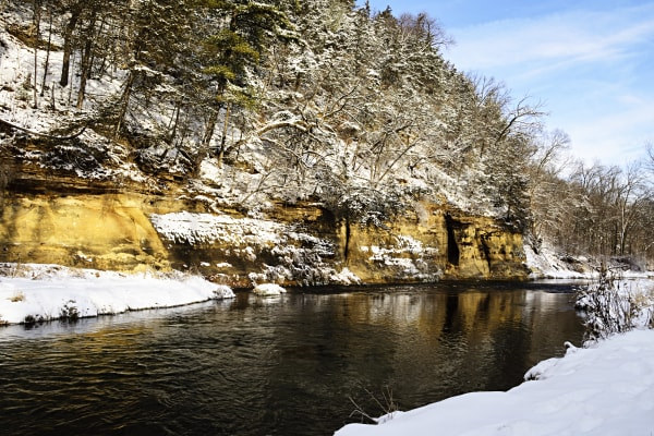 Winter Along the Whitewater River