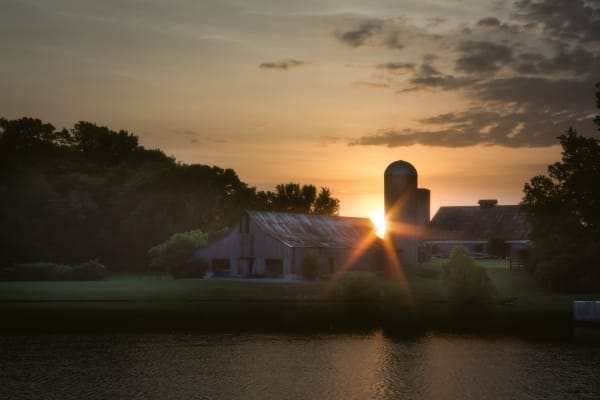 Buy this view of sunrise at Harlinsdale Farm for YOUR walls!