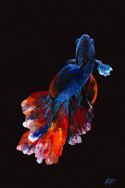 Betta Fish | Original Mixed Media Painting