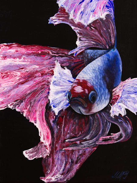 Phoenix Betta Fish | Original Mixed Media