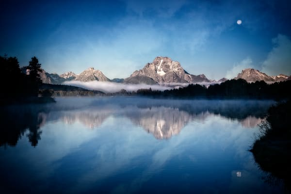 Mount Moran Grand Tetons Oxbow Bend