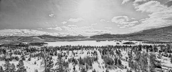 Panoramic art for home of Vista of Continental Divide from Snow Covered Lake Dillon