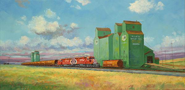Western Sky Original Oil Art | Glen Collin Arworks Inc.