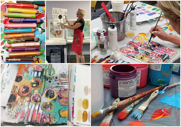 Fields of Flowers: Abstract Painting Workshop | Betty Krause Art