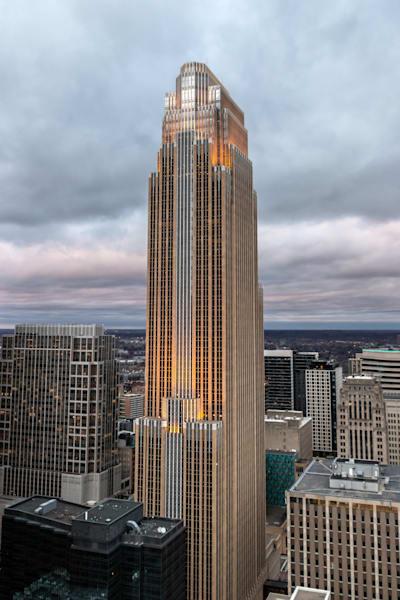 Wells Fargo Tower in Gotham - Minneapolis Skyline Print | William Drew