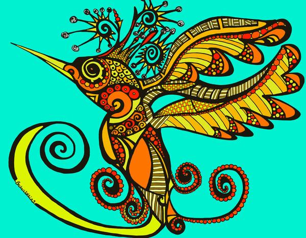Hummingbird Art | Becka Watkins Art