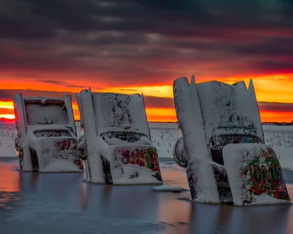 Frozen Route 66 Sunrise