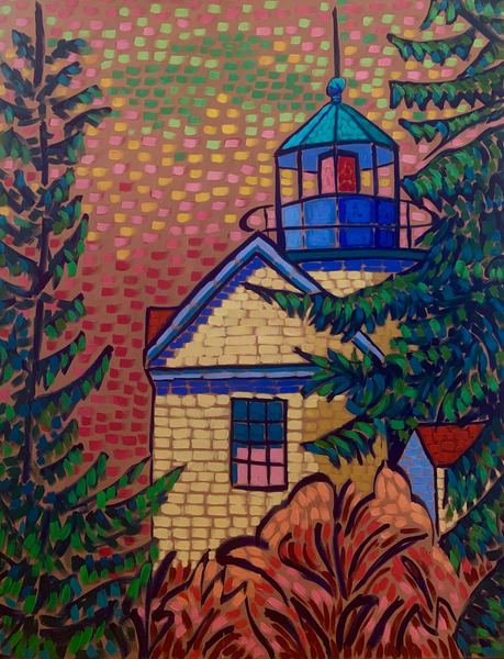 Bass Harbor Light, lighthouses, maine lighthouses, lighthouse art, landscapes