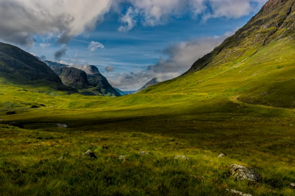 Along the A82 at Glen Coe, Scotland, known as The Weeping Glen