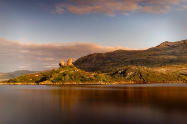Castle Moil, Kyleakin, Isle of Skye at Sunset