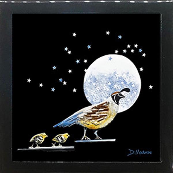 Starry, Starry Night Square Black Keepsake Box  Small | Madaras Gallery