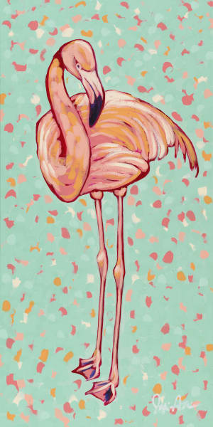 Flamingo I, a fine art print of a pink flamingo by Jodi Augustine Art.