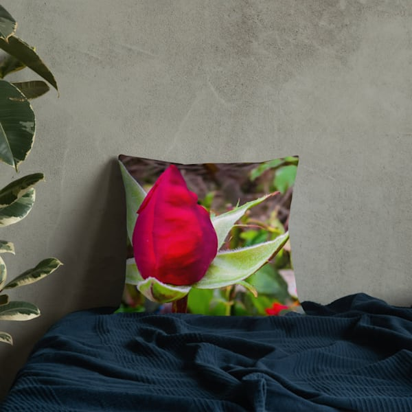 """""""O, My Love Is Like A Red, Red Rose"""" Premium Throw Pillow 