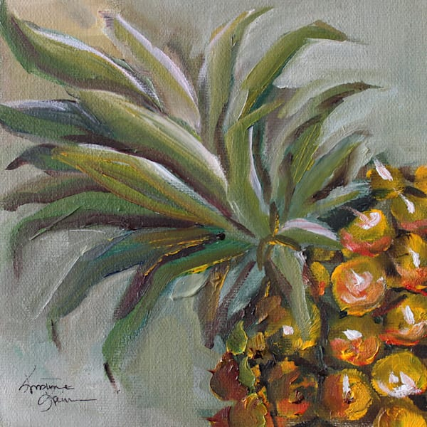 |Pineapple| Original Oil Painting by Food Artist Kristine Kainer