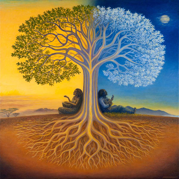Django's Tree canvas giclee