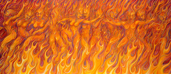 Flames Of Passion Canvas Giclee Art | markhensonart