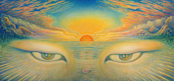 Eyes Of The World Canvas Giclee Art | markhensonart