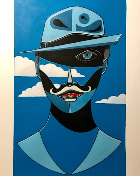 Monsieur' Acrylic on canvas for Cool Art House