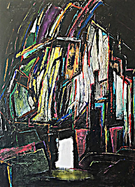 Anything to Stand out Amongst the Tombstones' Rich Textural Abstract Painting by Ian for Cool Art House