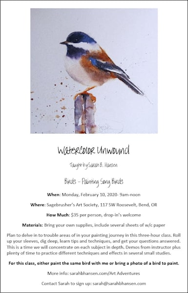 Watercolor Unwound   February 2020 | sbhansenart