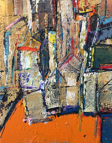 For Fear of a Boring Life' Rich Textural Abstract Paintings by Ian for Cool Art House