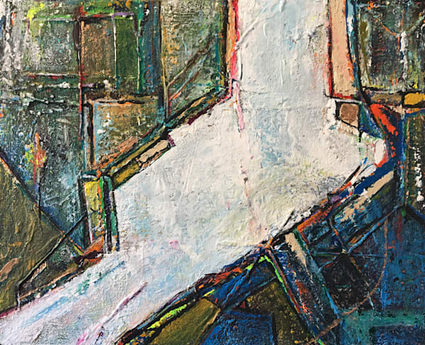 Longing For Forced Boredom' Rich Textural Abstract Paintings by Ian for Cool Art House