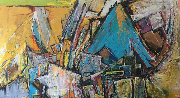 Waking UpLonging For Forced Boredom' Rich Textural Abstract Paintings by Ian for Cool Art House